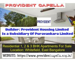 3 BHK Provident Capella Apartments For Sale In Whitefield
