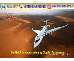 World's Trustful MICU Air Ambulance Service in Ahmedabad by Sky