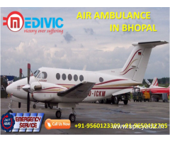 Avail Most Valuable ICU Emergency Care Air Ambulance in Bhopal by Medivic