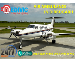 Pick Most Esteemed Special Air Ambulance Service in Dibrugarh by Medivic