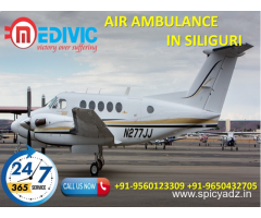 Now Book Authentic Cost ICU Air Ambulance Service in Siliguri by Medivic