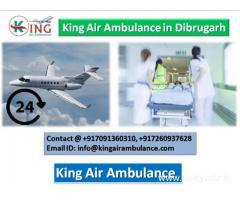 King Air Ambulance Services in Dibrugarh-Throw out Serious Condition