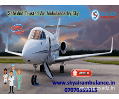 Take Benefit of ICU Air Ambulance Service in Dimapur by Sky