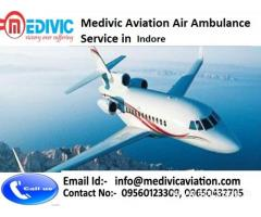 Affordable Air Ambulance  Services in Indore by Medivic Aviation