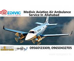 Emergency shifting   Air Ambulance Services  in Allahabad by Medivic Aviation