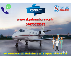 More Dependable Commercial Air Ambulance Service in Agartala by Sky