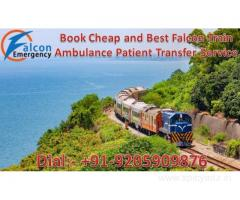 Get Best Facility Train Ambulance in Delhi by Falcon Emergency