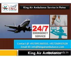King Air Ambulance service in Patna-All Administrations Inside