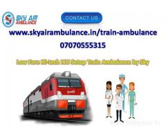 India's Best Train Ambulance Service in Delhi by Sky
