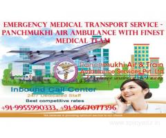 Hire Advanced Medical Care Supported Air and Train Ambulance in Patna by Panchmukhi