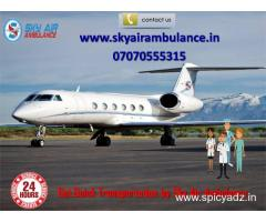 Book Now Sky Air Ambulance Service in Raigarh with ICU Specialist