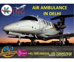 Get Top Ranking Exigency Shifting by King Air Ambulance Service in Delhi