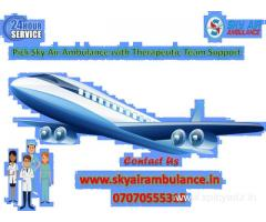 Hire Sky Air Ambulance Service in Imphal at Minimum Price