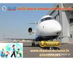 Use Sky Air Ambulance Service in Kozhikode with Physician