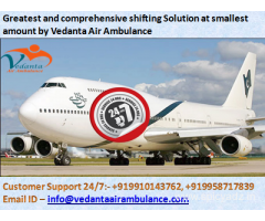 Vedanta Air Ambulance Mumbai- Complete bed to bed service