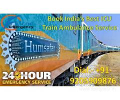 Get the best ICU Train Ambulance Service in Delhi for Patient Shifting Service