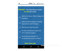 We are Hiring - Earn Rs.15000/- Per month - Simple Copy Paste Jobs.   DPJ1368531