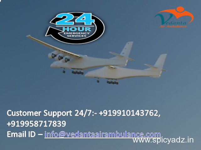 Hire most reliable ICU Air Ambulance in Delhi by Vedanta