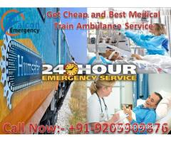 Get medically packed Train Ambulance Services in Delhi by Falcon Emergency
