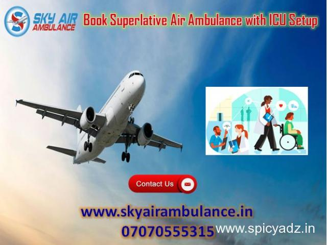 Use Sky Air Ambulance Service in Ahmedabad with CCU Specialist