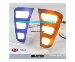 Kia Pegas LED cree DRL day time running lights driving daylight