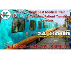 Book King Train Ambulance from Patna to Delhi with Doctor and ICU Service