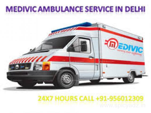 Get 24* 7 Hours an Emergency Road Ambulance Service in chanakyapuri by Medivic Ambulance