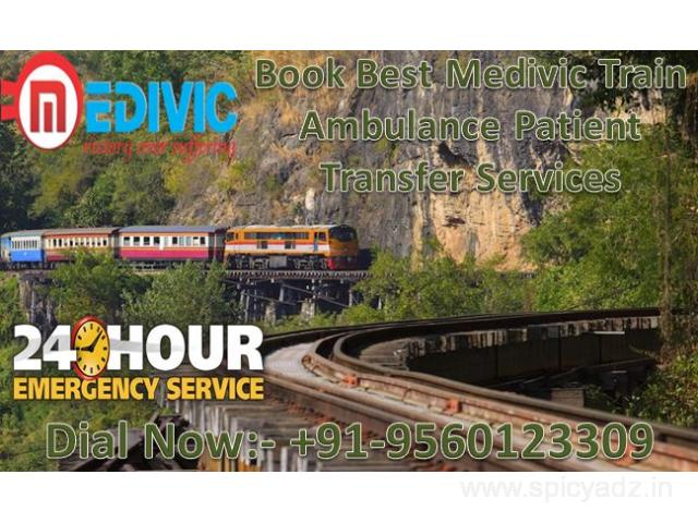 Get Quick and Best Hi-Tech Train Ambulance Service in Mumbai by Medivic Aviation