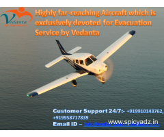 Best and reliable Vedanta Air Ambulance from Patna to Delhi
