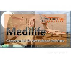 Medilife Air Ambulance in Dibrugarh Dispatch Patient with End-to-End Transfer
