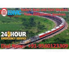 Get Medivic Aviation Train Ambulance Services in Lucknow with the Best ICU Facility