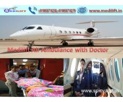 Medilift Air Ambulance Service in Mumbai with Best Medical Equipment