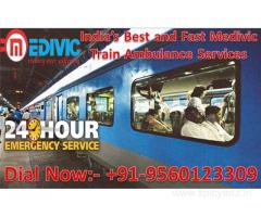 Get Reliable Medivic Train Ambulance Services in Allahabad with Best Medical Setup