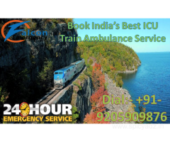 Get Low-Cost and Best ICU Train Ambulance Service in Mumbai by Falcon Emergency