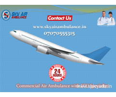 Pick Hi-tech Air Ambulance Service in Ahmedabad at Low Price