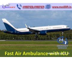 Pick Medilift Air Ambulance Service in Jabalpur with Medical Support