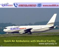 Book Hi-Quality Air Ambulance Service in Nagpur by Medilift