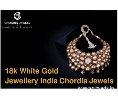 18K White gold jewellery wholesalers India - Chordia Jewels