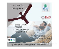 Best BLDC Technology Macho Ceiling Fan from Yash Fans Pvt Ltd