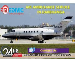 Use Excellent Medial Transport Air Ambulance from Darbhanga by Medivic