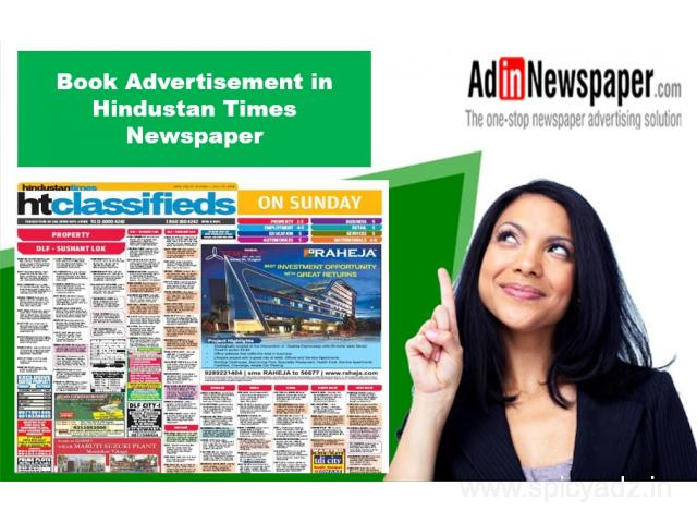 Hindustan Times Ad Booking for Delhi