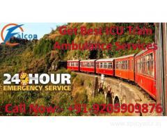 Falcon Train Ambulance from Delhi to Chennai, Mumbai, Kolkata, with Medical Team