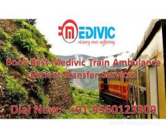 Get Medivic Aviation Train Ambulance from Delhi to Mumbai, Kolkata, Chennai, with ICU Facility