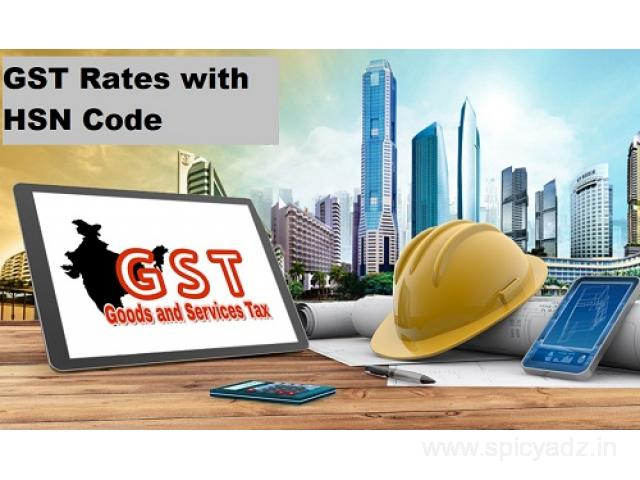 Right Platform to Obtain the List of GST Rates with HSN Code