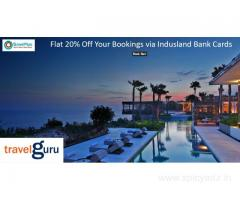 Flat 20% Off Your Bookings via Indusland Bank Cards