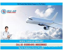 Pick Air Ambulance Service in Nagpur with First AID