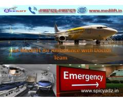 Full Life-Support Air Ambulance Service in Lucknow by Medilift