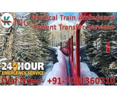Now 24 Hours Available Train Ambulance Services in Delhi by King Ambulance