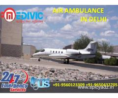 Take Immediate by Medivic Air Ambulance in Delhi with Hi-Tech ICU Care