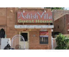 Get Ashish Villa Guest House in,Jodhpur with Class Accommodation.